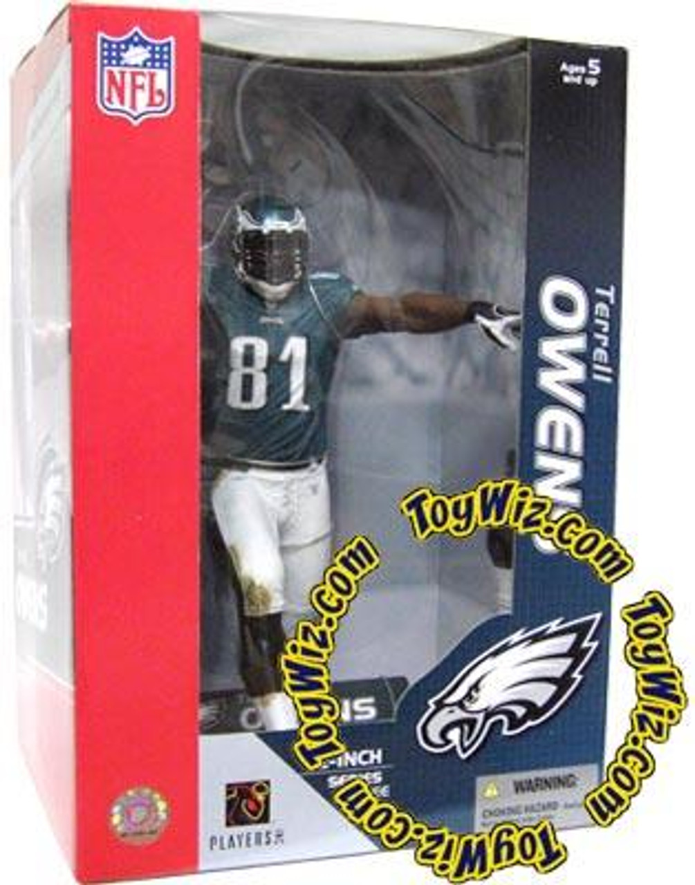 McFarlane Toys NFL Philadelphia Eagles Sports Picks 12 Inch Deluxe Terrell Owens Action Figure [Green Jersey]