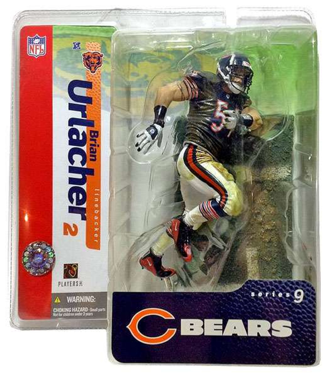 McFarlane Toys NFL Chicago Bears Sports Picks Series 9 Brian Urlacher Action Figure [Blue Jersey White Pants]