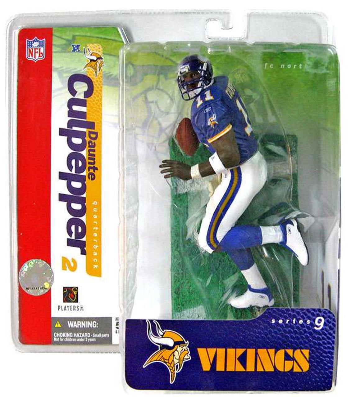 5e70b9e7c ... McFarlane Toys NFL Minnesota Vikings Sports Picks Series 9 Daunte  Culpepper Action Figure Purple Jersey ...