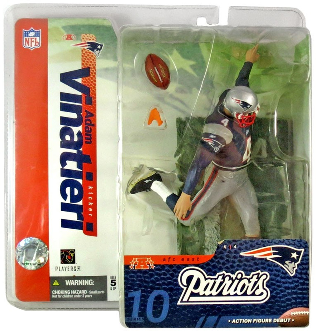 McFarlane Toys NFL New England Patriots Sports Picks Series 10 Adam Vinatieri Action Figure [Blue Jersey]
