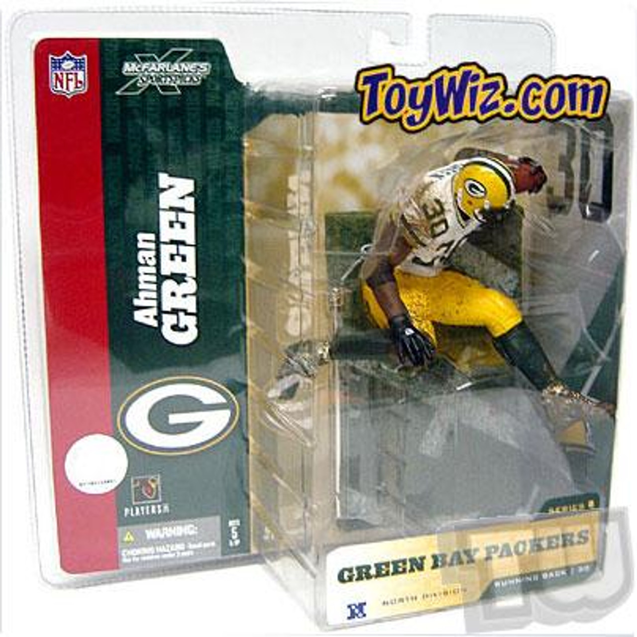 McFarlane Toys NFL Green Bay Packers Sports Picks Series 8 Ahman Green Action Figure [White Jersey Variant]