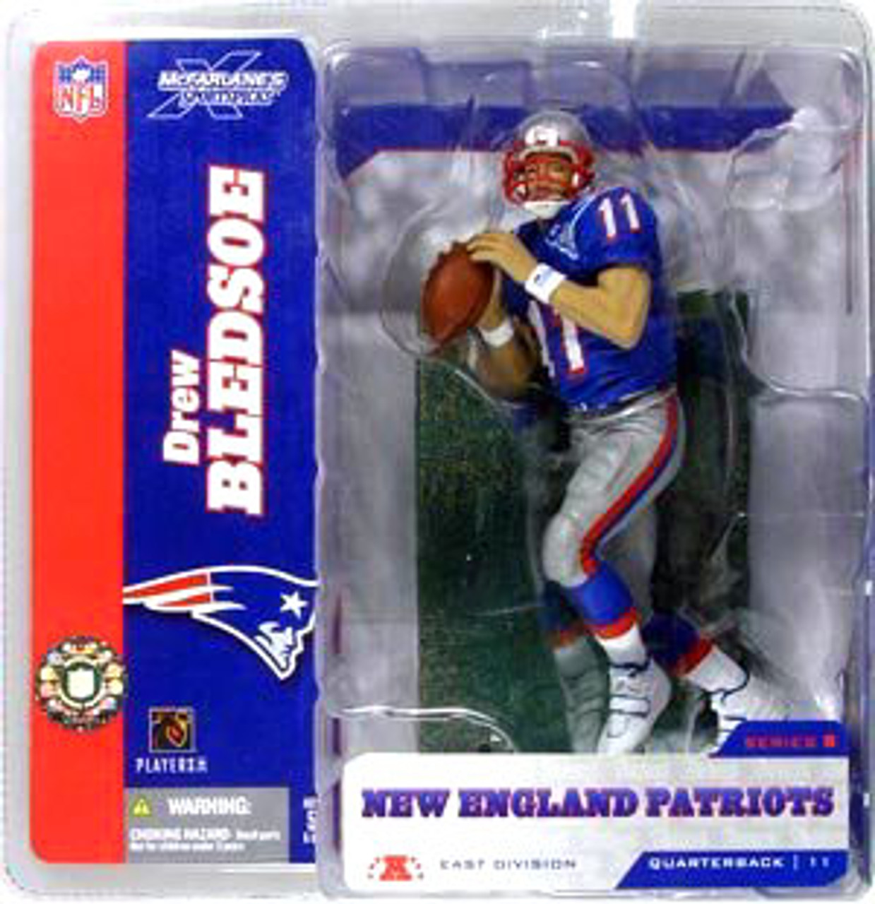McFarlane Toys NFL New England Patriots Sports Picks Series 8 Drew Bledsoe Action Figure [Blue Jersey Retro Variant]