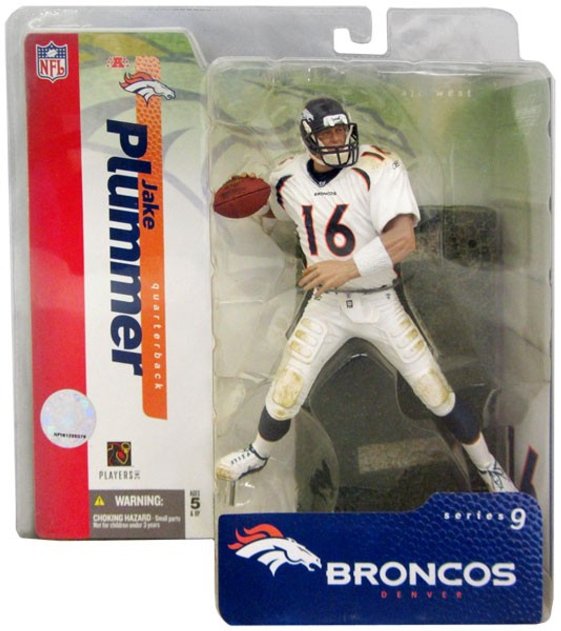 McFarlane Toys NFL Denver Broncos Sports Picks Series 9 Jake Plummer Action Figure [White Jersey Variant]