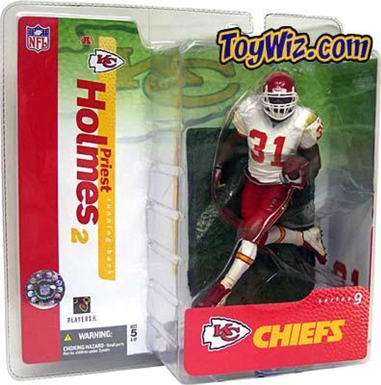 McFarlane Toys NFL Kansas City Chiefs Sports Picks Series 9 Priest Holmes Action Figure [White Jersey Variant]