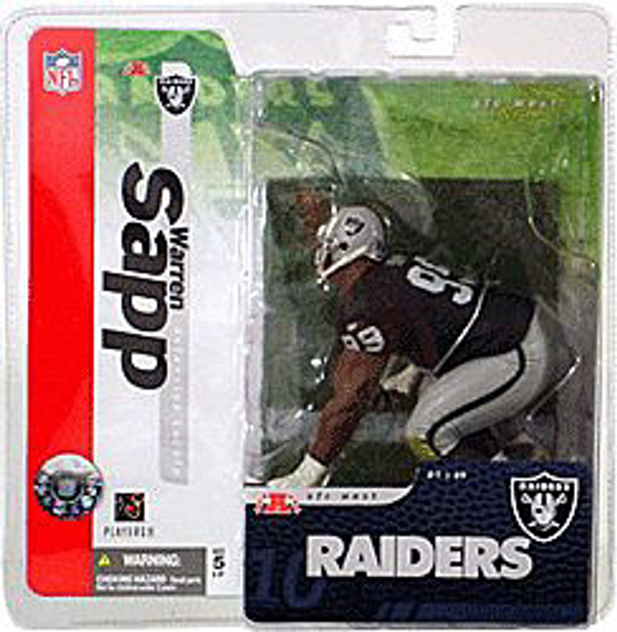 McFarlane Toys NFL Oakland Raiders Sports Picks Series 10 Warren Sapp Action Figure [Black Jersey Chase]