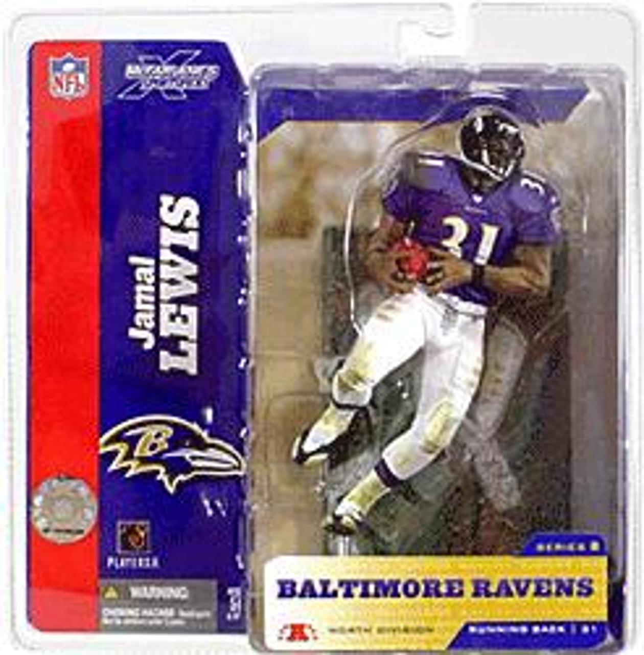 McFarlane Toys NFL Baltimore Ravens Sports Picks Series 8 Jamal Lewis Action Figure [Purple Jersey]