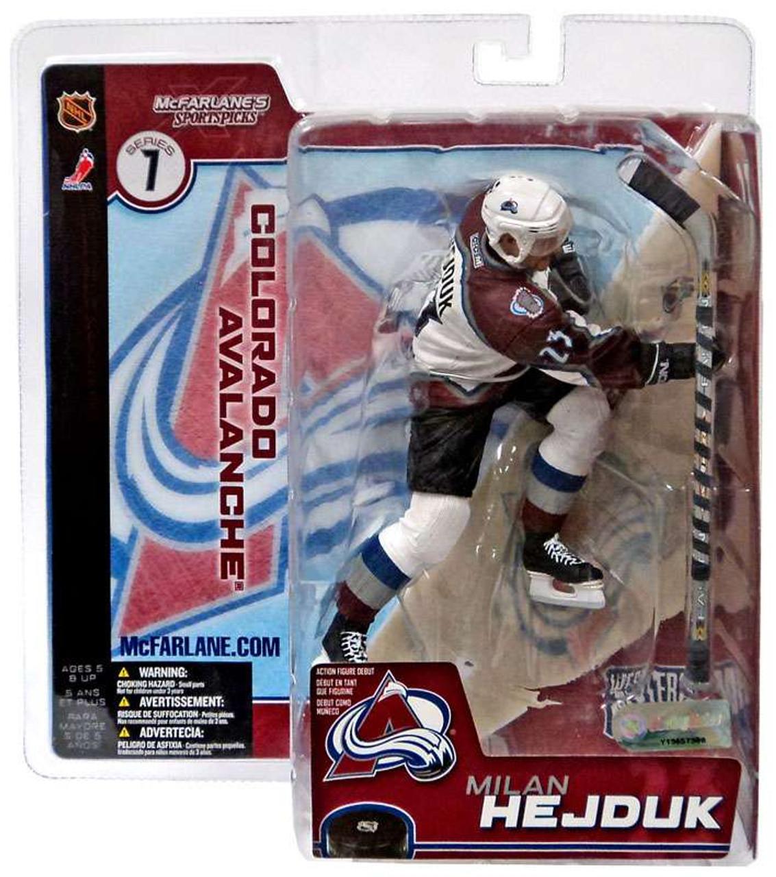 McFarlane Toys NHL Colorado Avalanche Sports Picks Series 7 Milan Hejduk Action Figure [White Jersey]