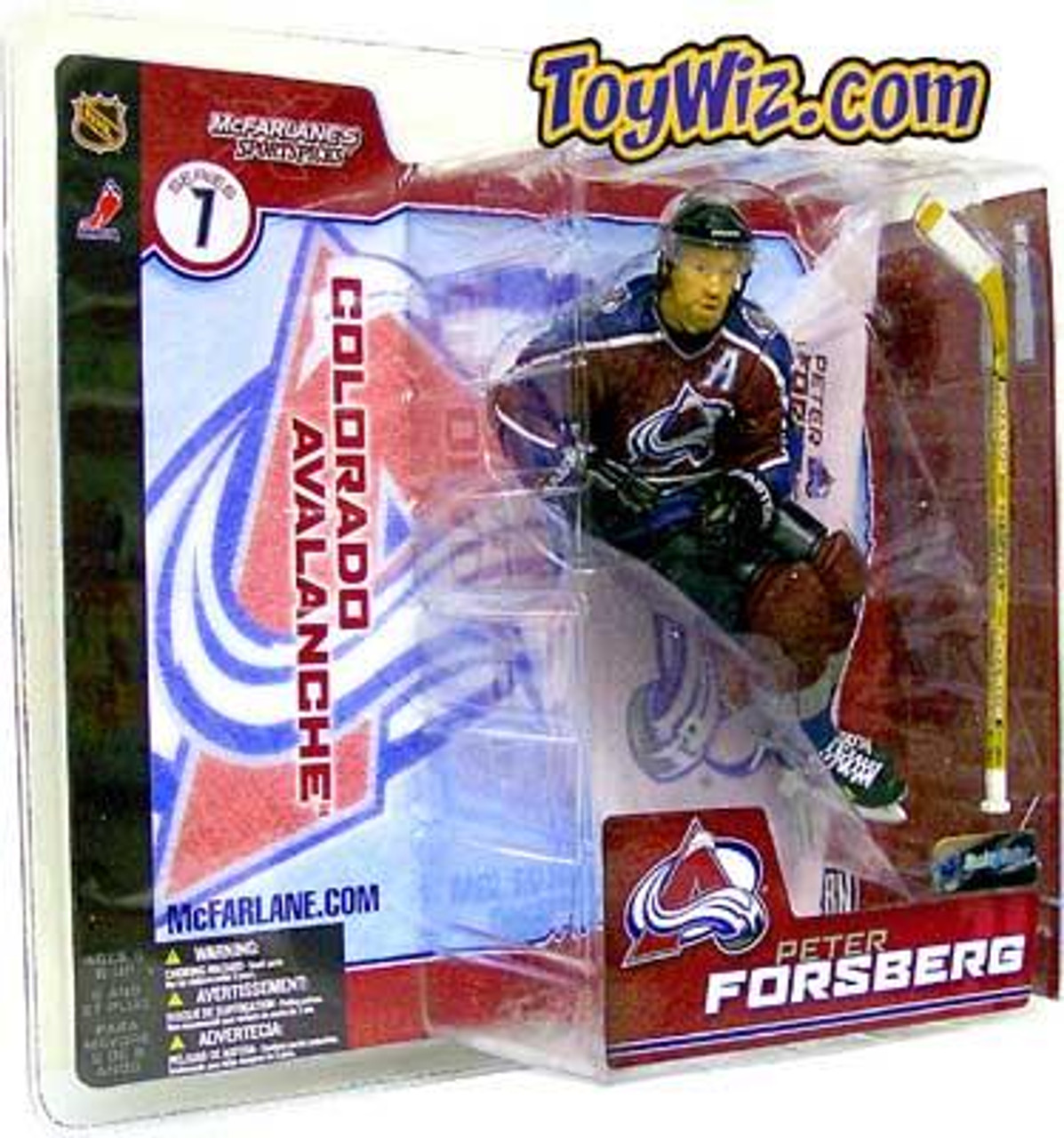 McFarlane Toys NHL Colorado Avalanche Sports Picks Series 7 Peter Forsberg Action Figure [Maroon Jersey]