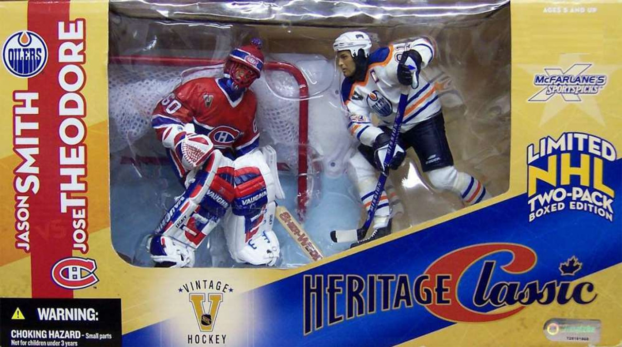 McFarlane Toys NHL Edmonton Oilers & Montreal Canadiens Sports Picks Jason Smith & Jose Theodore Action Figure 2-Pack