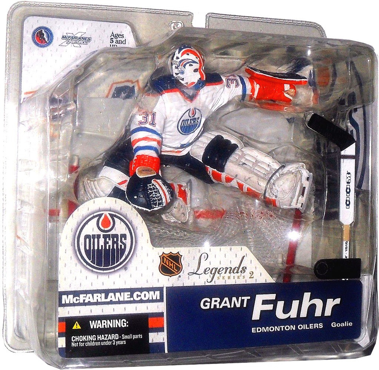 McFarlane Toys NHL Edmonton Oilers Sports Picks Legends Series 2 Grant Fuhr Action Figure [White Jersey]