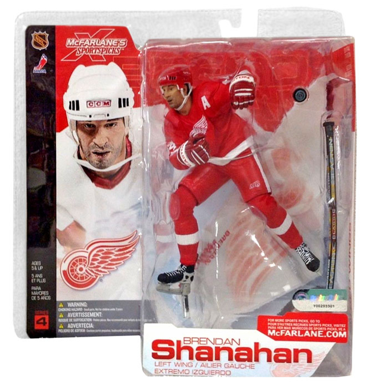 McFarlane Toys NHL Detroit Red Wings Sports Picks Series 4 Brendan Shanahan Action Figure [Red Jersey Variant]