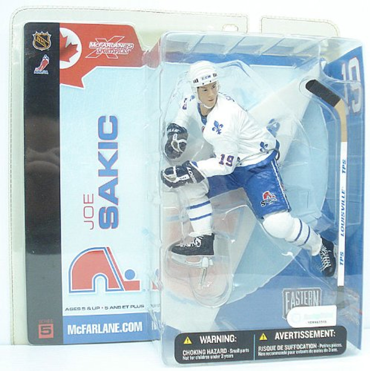 McFarlane Toys NHL Quebec Nordiques Sports Picks Series 5 Joe Sakic Action Figure [White Jersey Variant]