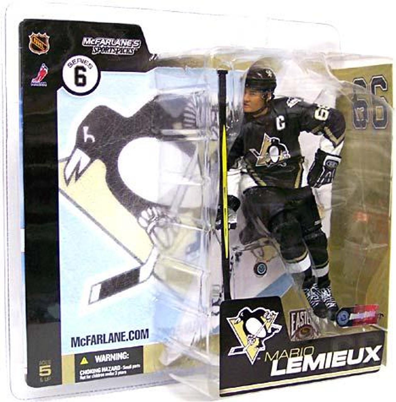 McFarlane Toys NHL Pittsburgh Penguins Sports Picks Series 6 Mario Lemieux Action Figure [Black Jersey Upward Triangle]