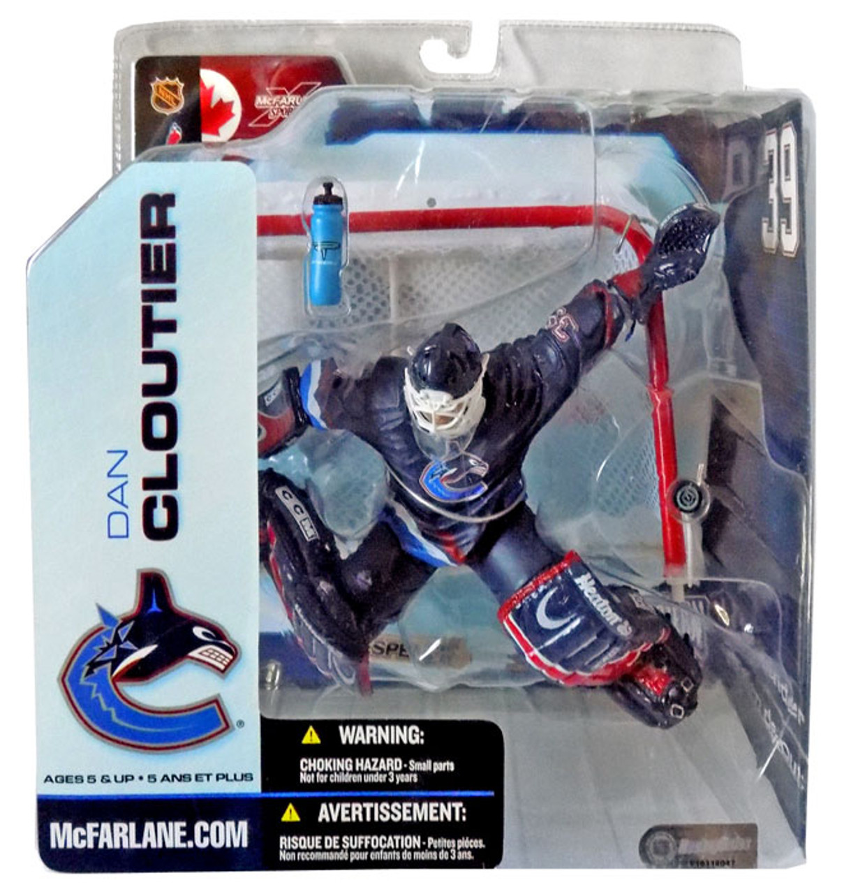 McFarlane Toys NHL Vancouver Canucks Sports Picks Series 5 Dan Cloutier Action Figure [Blue Jersey]