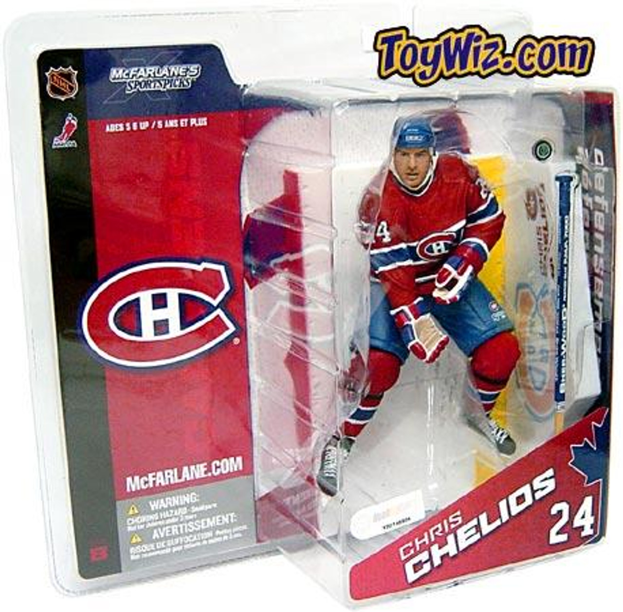 McFarlane Toys NHL Montreal Canadiens Sports Picks Series 8 Chris Chelios Exclusive Action Figure [Red Jersey]