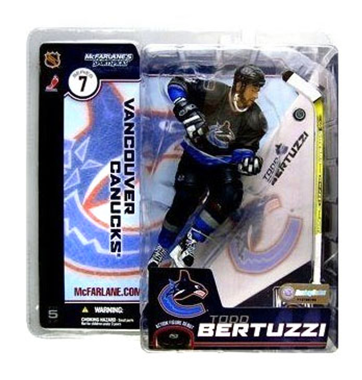 McFarlane Toys NHL Vancouver Canucks Sports Picks Series 7 Todd Bertuzzi Action Figure [Blue Jersey Variant]