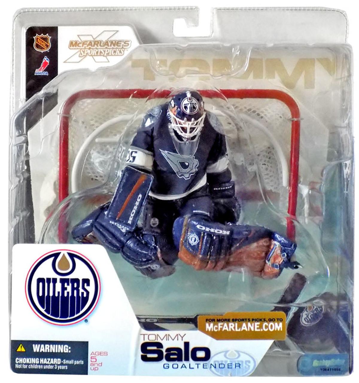 McFarlane Toys NHL Edmonton Oilers Sports Picks Series 4 Tommy Salo Action Figure [Blue Jersey]
