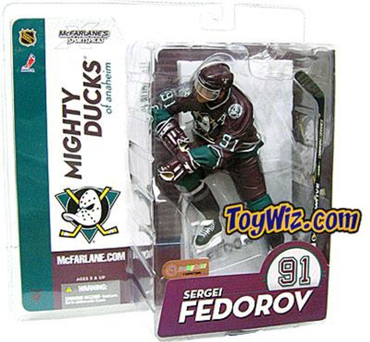 McFarlane Toys NHL Anaheim Mighty Ducks Sports Picks Series 9 Sergei Fedorov Action Figure [Purple Jersey]