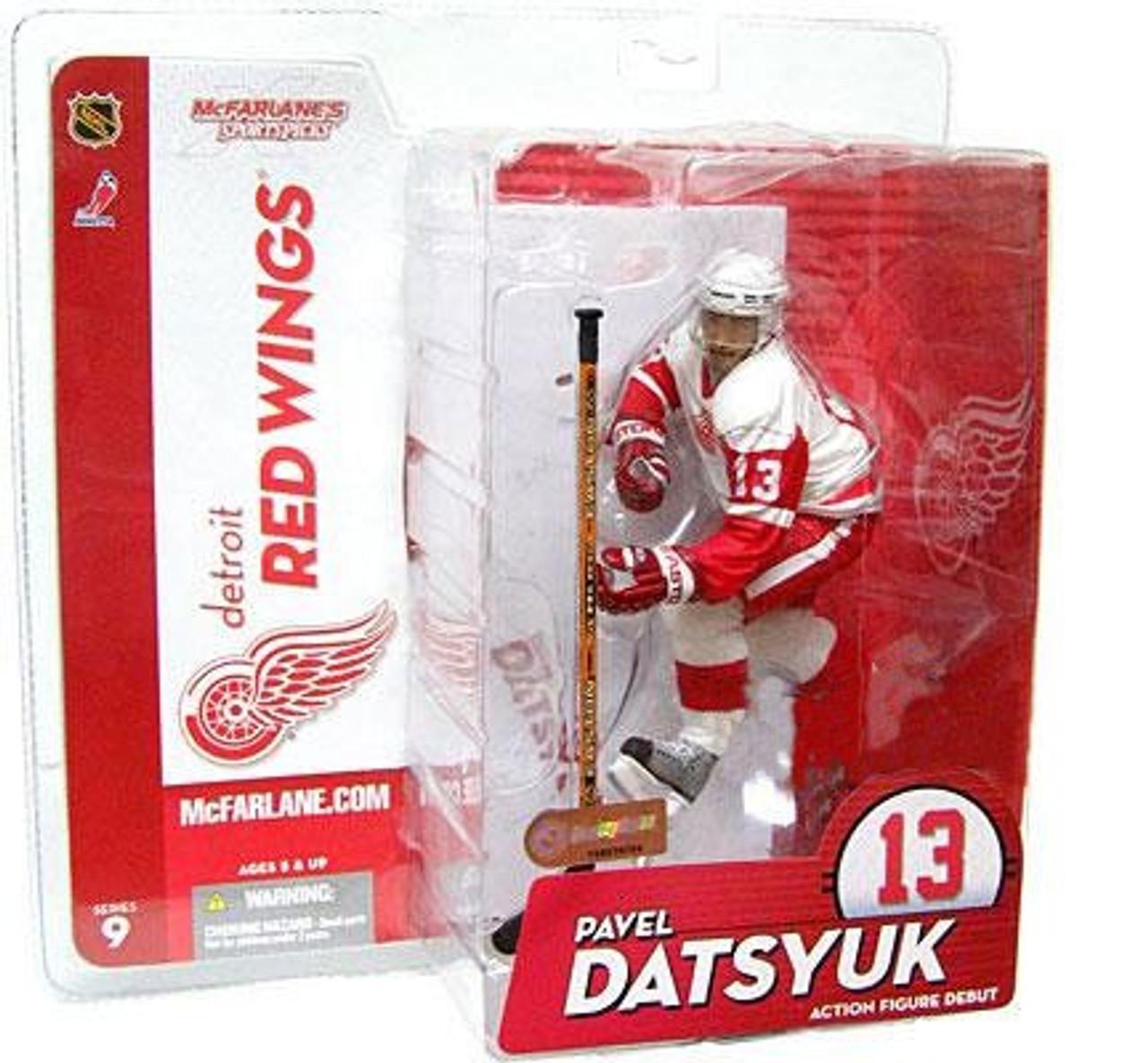 McFarlane Toys NHL Detroit Red Wings Sports Picks Series 9 Pavel Datsyuk Action Figure [White Jersey]