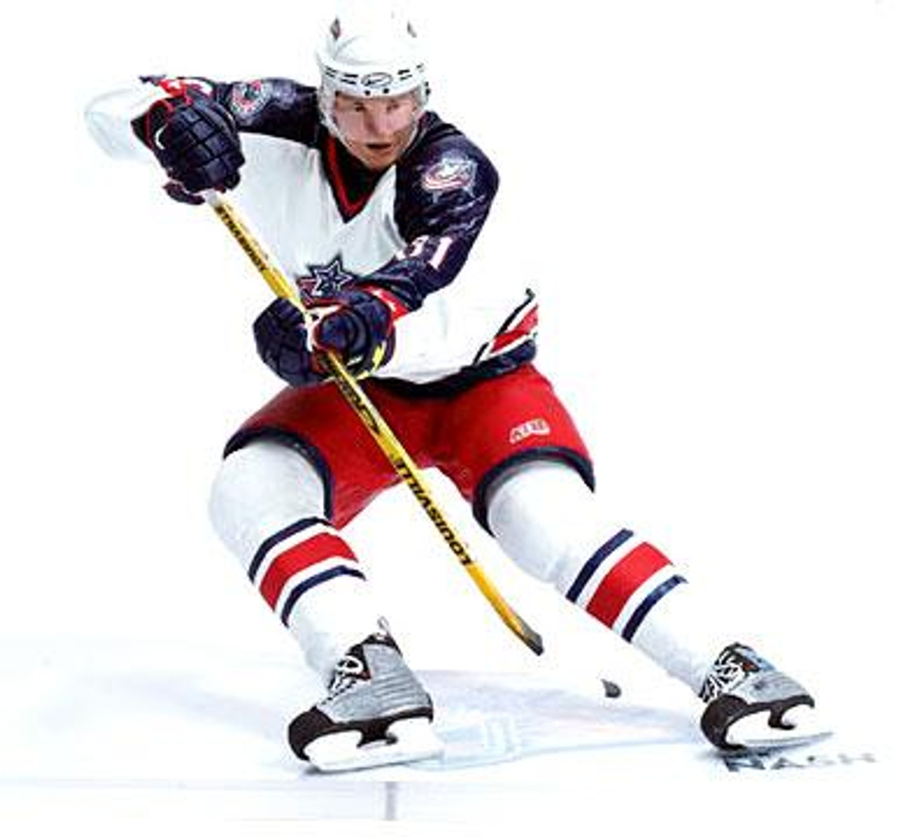 McFarlane Toys NHL Columbus Blue Jackets Sports Picks Series 10 Rick Nash Action Figure [White Jersey]
