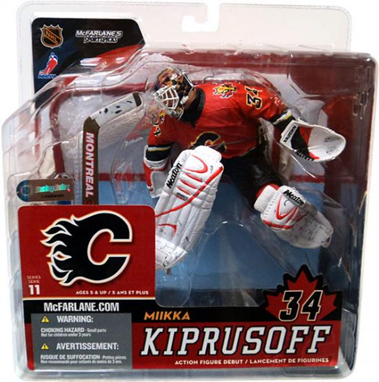 McFarlane Toys NHL Calgary Flames Sports Picks Series 11 Miikka Kiprusoff Action Figure