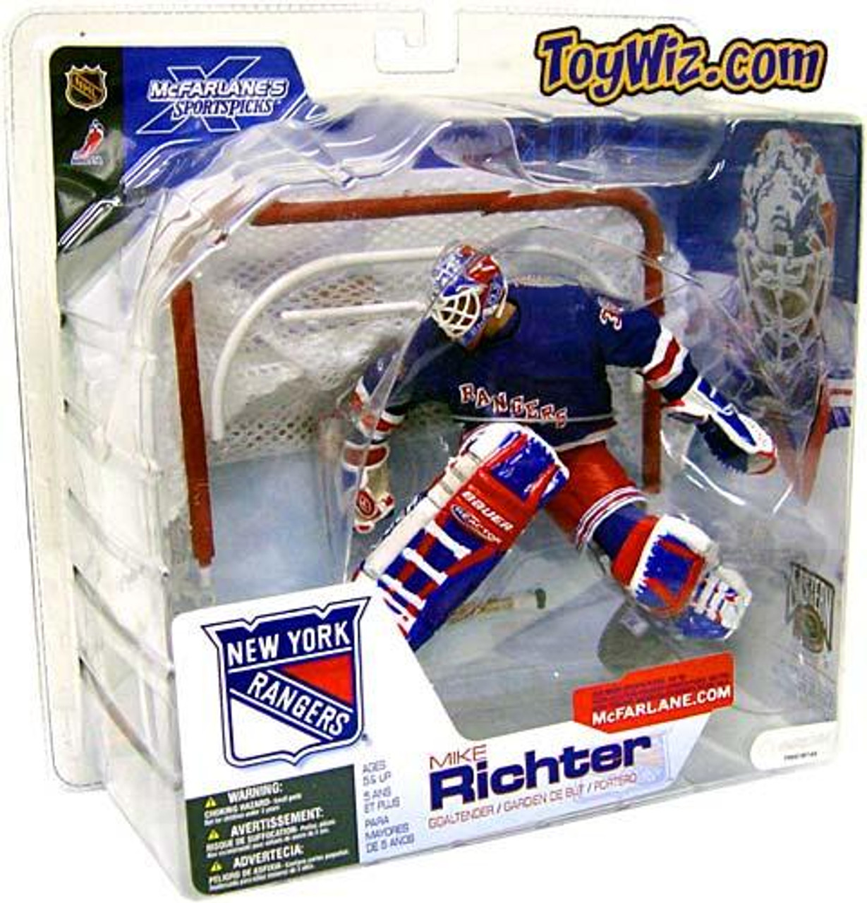 McFarlane Toys NHL New York Rangers Sports Picks Series 4 Mike Richter Action Figure [Blue Jersey Variant]