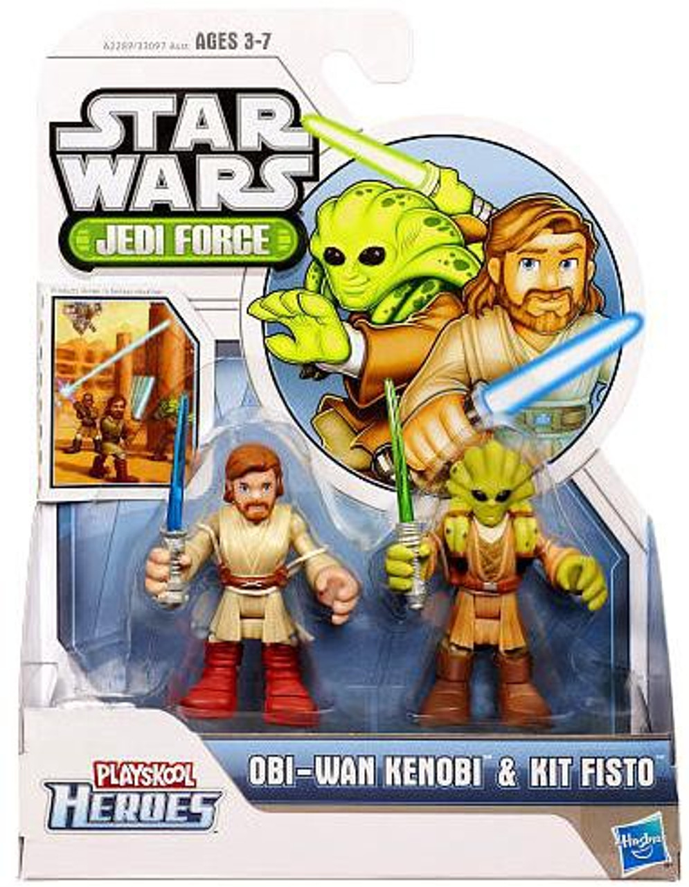 Star Wars Attack of the Clones Jedi Force 2013 Obi-Wan Kenobi & Kit Fisto Action Figure 2-Pack