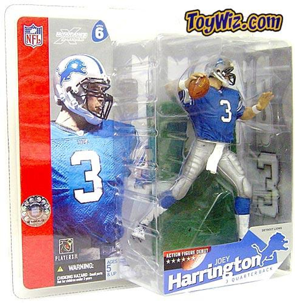 McFarlane Toys NFL Detroit Lions Sports Picks Series 6 Joey Harrington Action Figure [Blue Jersey]