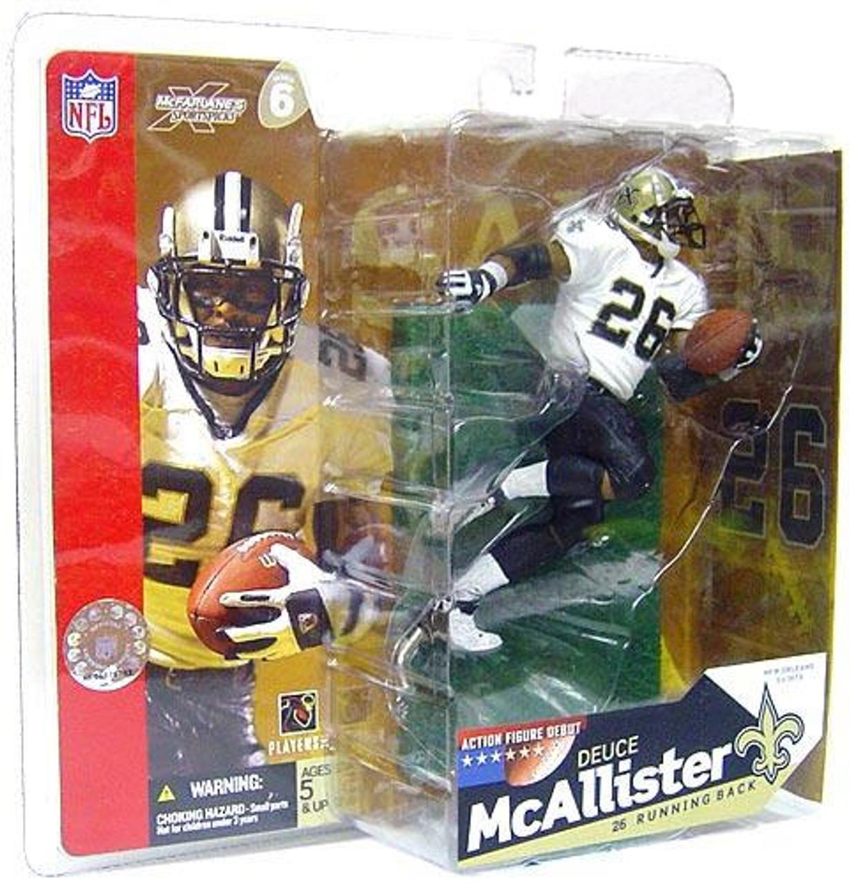 McFarlane Toys NFL New Orleans Saints Sports Picks Series 6 Deuce McAllister Action Figure [White Jersey No Eye Black]