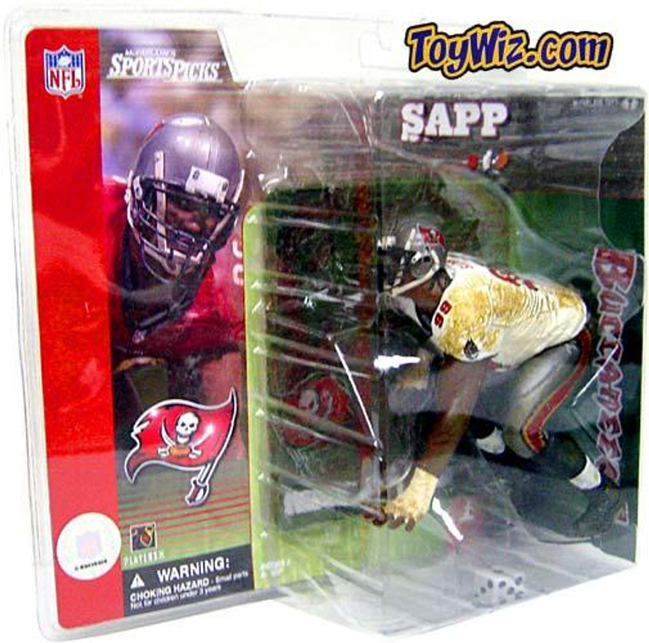 McFarlane Toys NFL Tampa Bay Buccaneers Sports Picks Series 1 Warren Sapp Action Figure [White Jersey Variant]