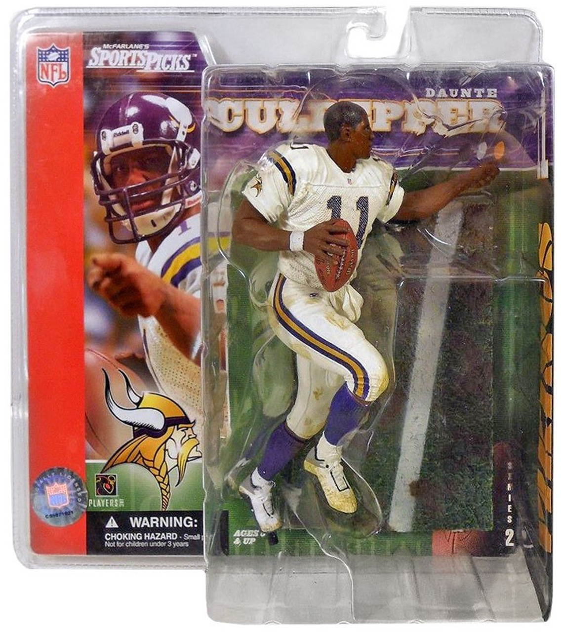 McFarlane Toys NFL Minnesota Vikings Sports Picks Series 2 Daunte Culpepper Action Figure [No Helmet Variant]