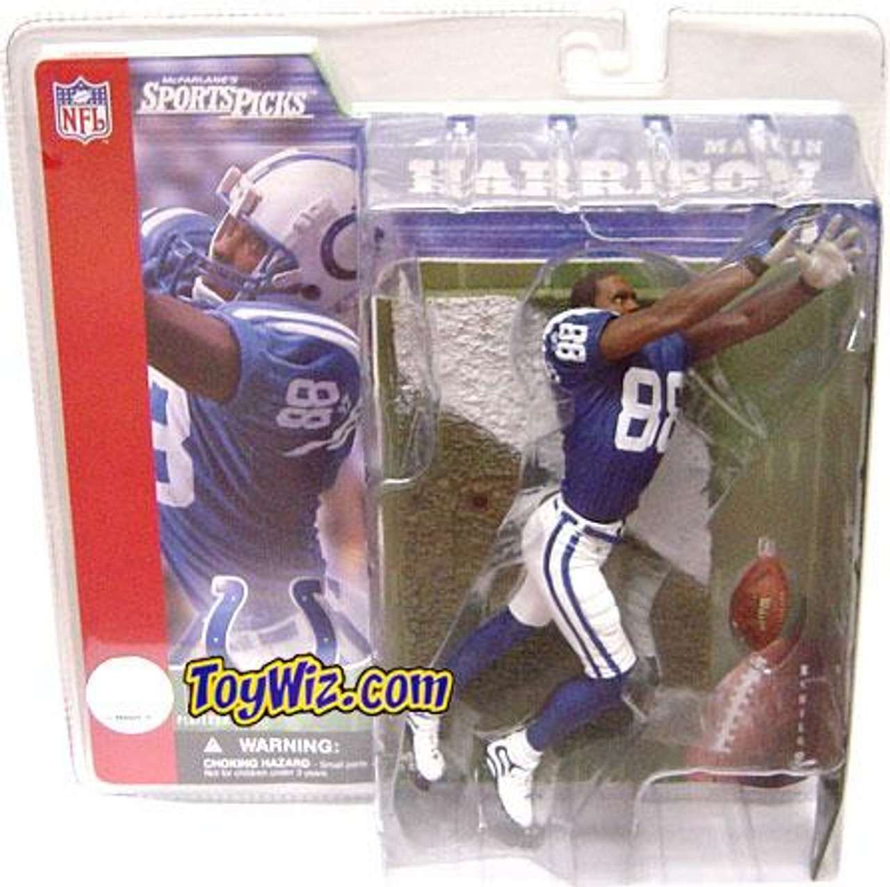 McFarlane Toys NFL Indianapolis Colts Sports Picks Series 2 Marvin Harrison Action Figure [Blue Jersey No Helmet Variant]