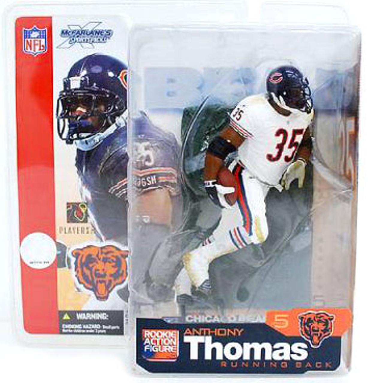 McFarlane Toys NFL Chicago Bears Sports Picks Series 5 Anthony Thomas Action Figure [White Jersey Variant]