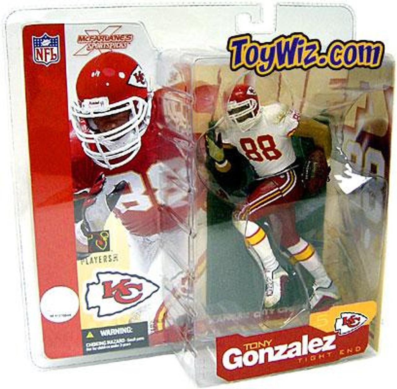 McFarlane Toys NFL Kansas City Chiefs Sports Picks Series 5 Tony Gonzalez Action Figure [White Jersey Variant]