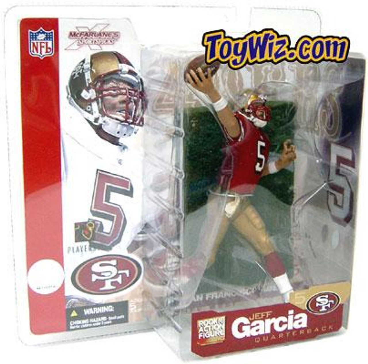 McFarlane Toys NFL San Francisco 49ers Sports Picks Series 5 Jeff Garcia Action Figure [Red Jersey Variant]