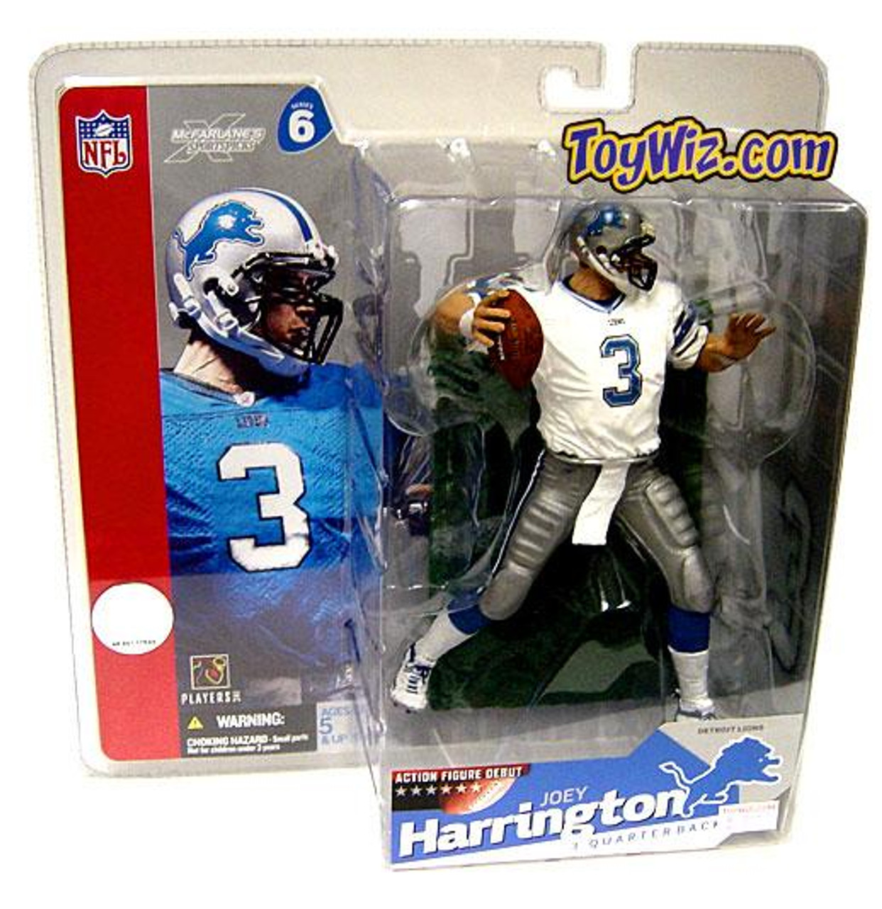 McFarlane Toys NFL Detroit Lions Sports Picks Series 6 Joey Harrington Action Figure [White Jersey Variant]
