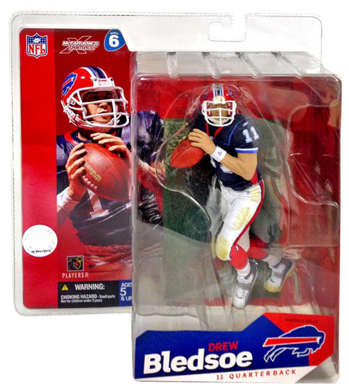 McFarlane Toys NFL Buffalo Bills Sports Picks Series 6 Drew Bledsoe Action Figure [Blue Jersey]