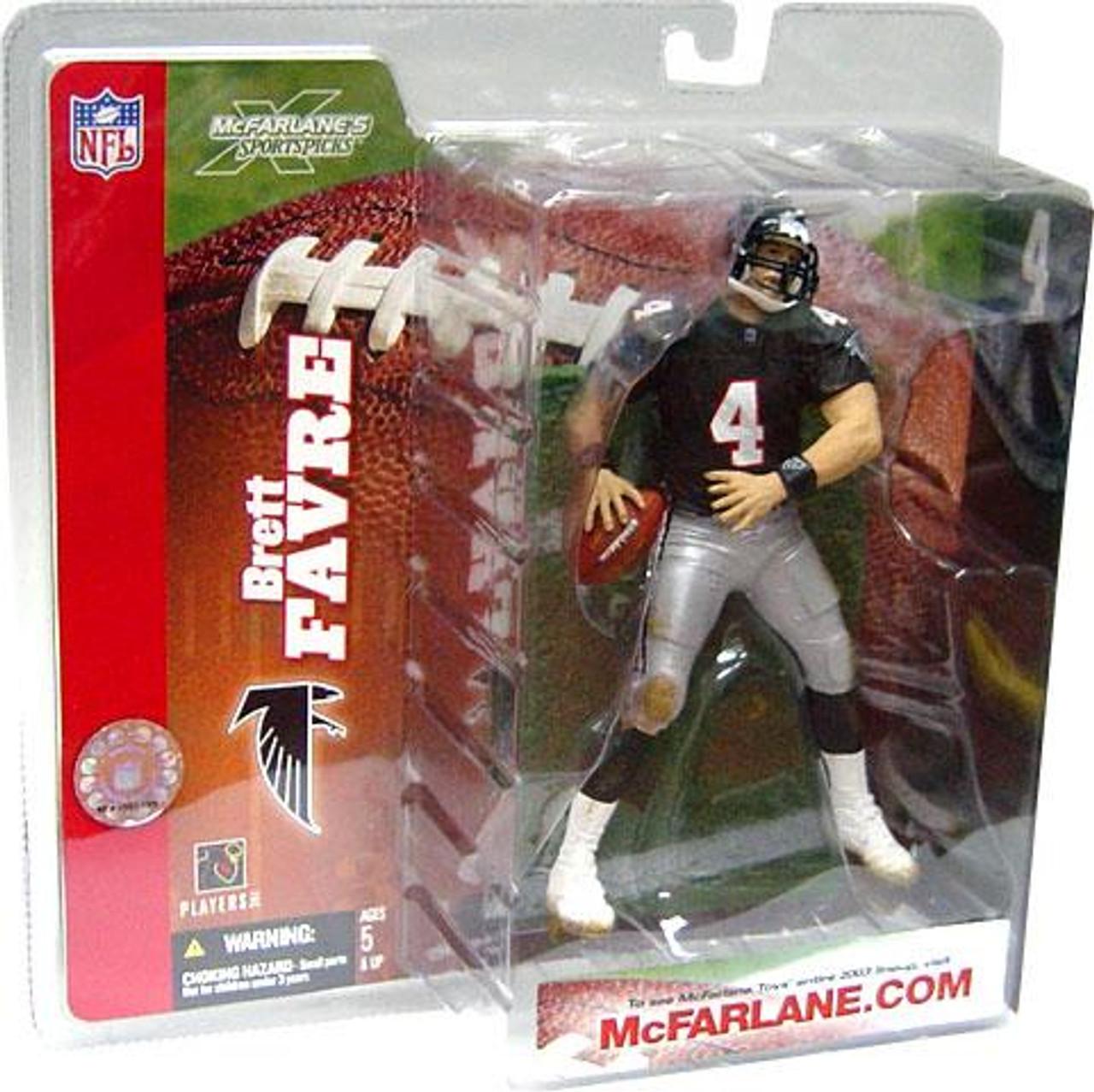 McFarlane Toys NFL Atlanta Falcons Sports Picks Series 6 Brett Favre Action Figure [Retro Jersey No Handwarmers]