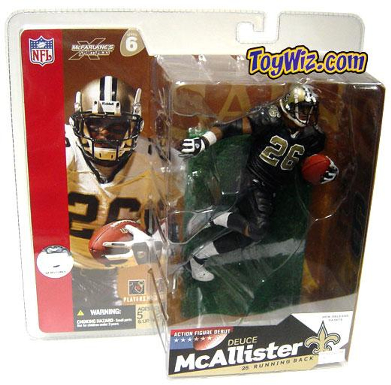 McFarlane Toys NFL New Orleans Saints Sports Picks Series 6 Deuce McAllister Action Figure [Black Jersey Variant]