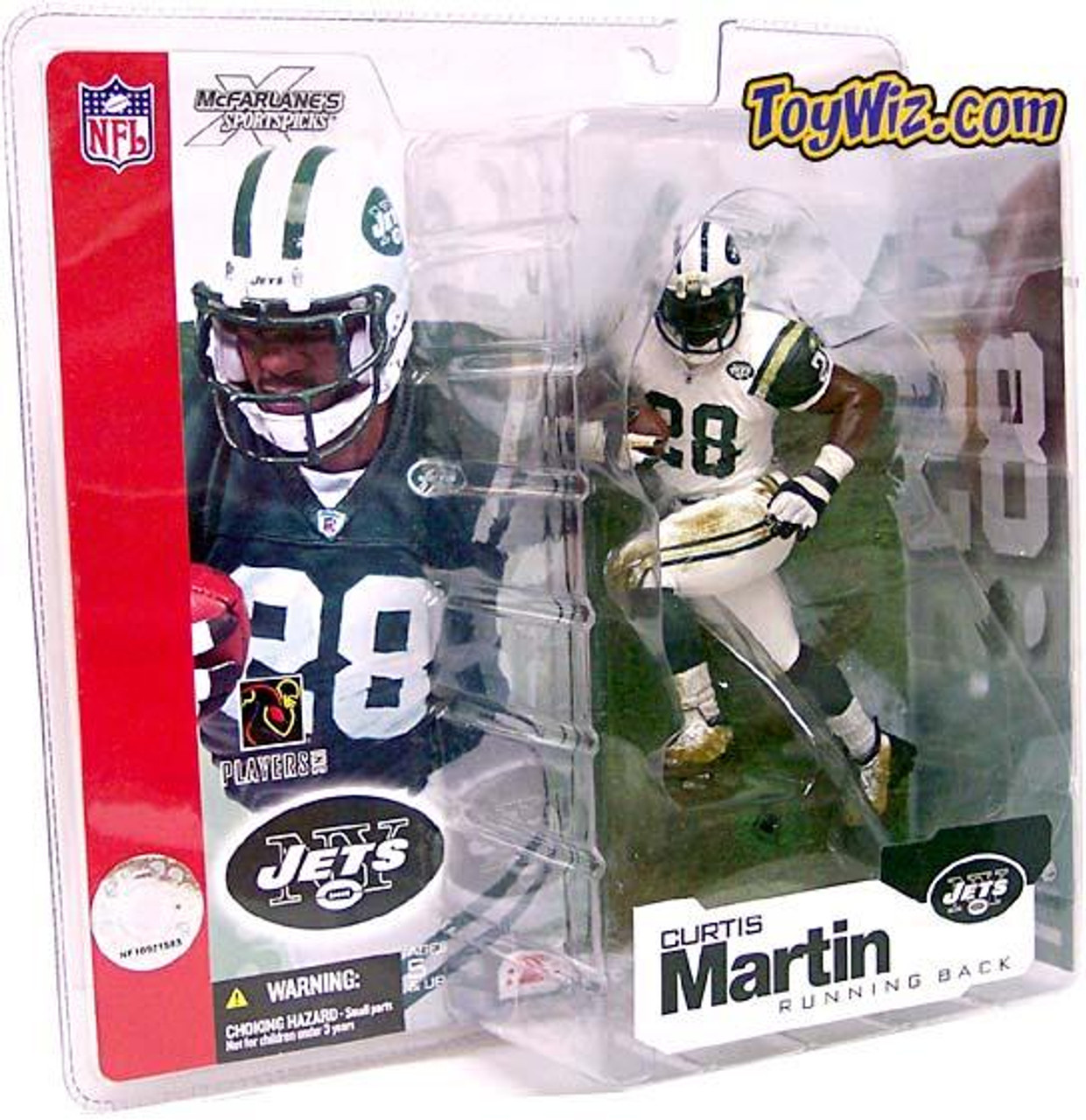McFarlane Toys NFL New York Jets Sports Picks Series 4 Curtis Martin Action Figure [White Jersey Variant]