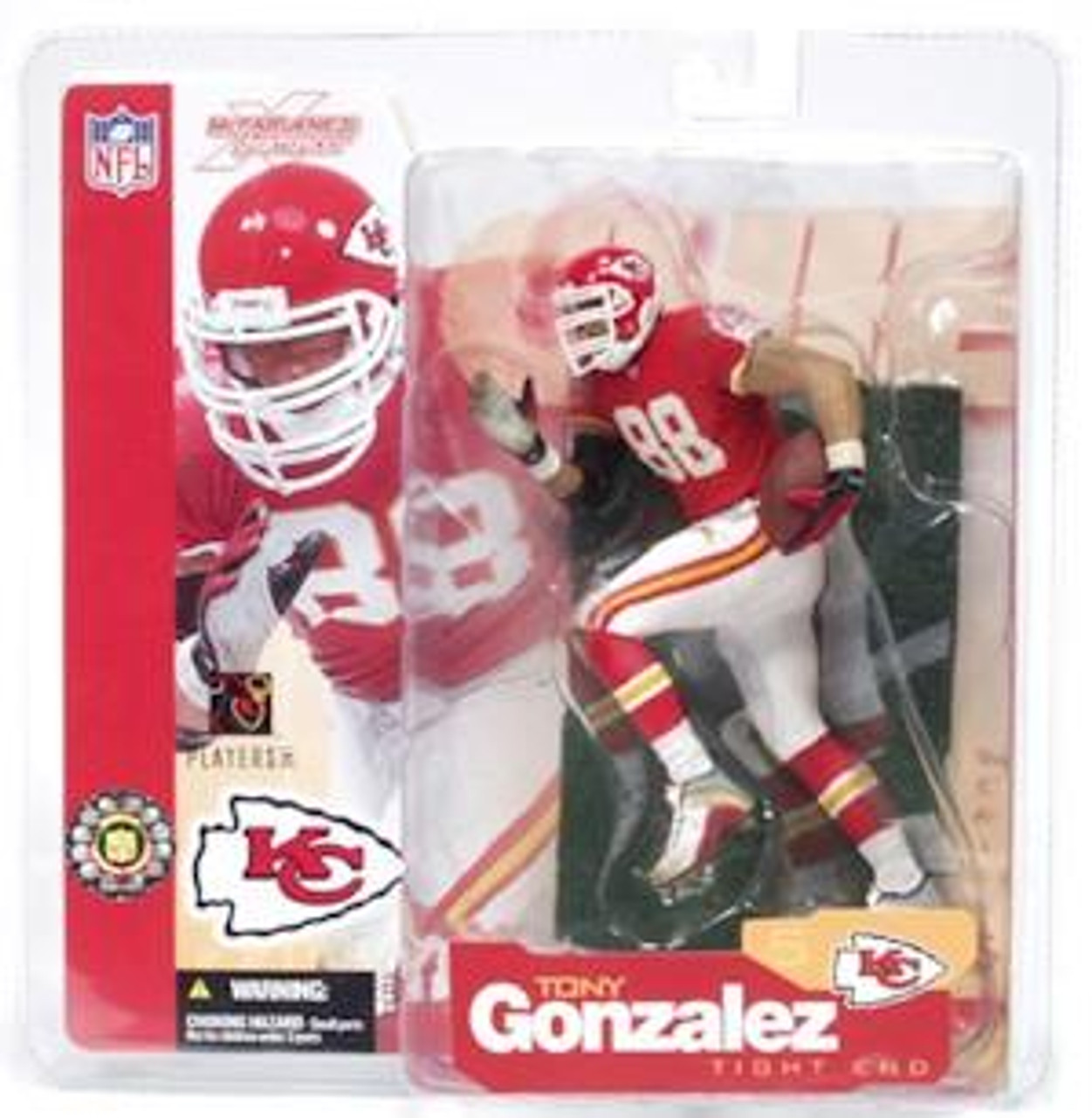 McFarlane Toys NFL Kansas City Chiefs Sports Picks Series 5 Tony Gonzalez Action Figure [Red Jersey]