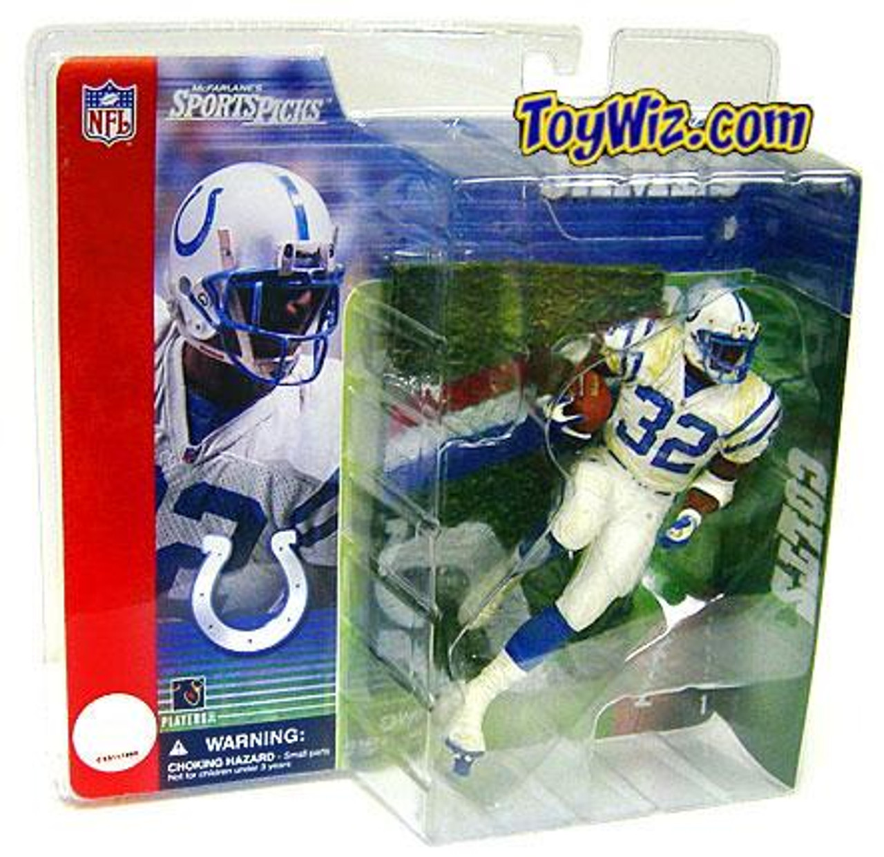 McFarlane Toys NFL Indianapolis Colts Sports Picks Series 1 Edgerrin James Action Figure [White Jersey]