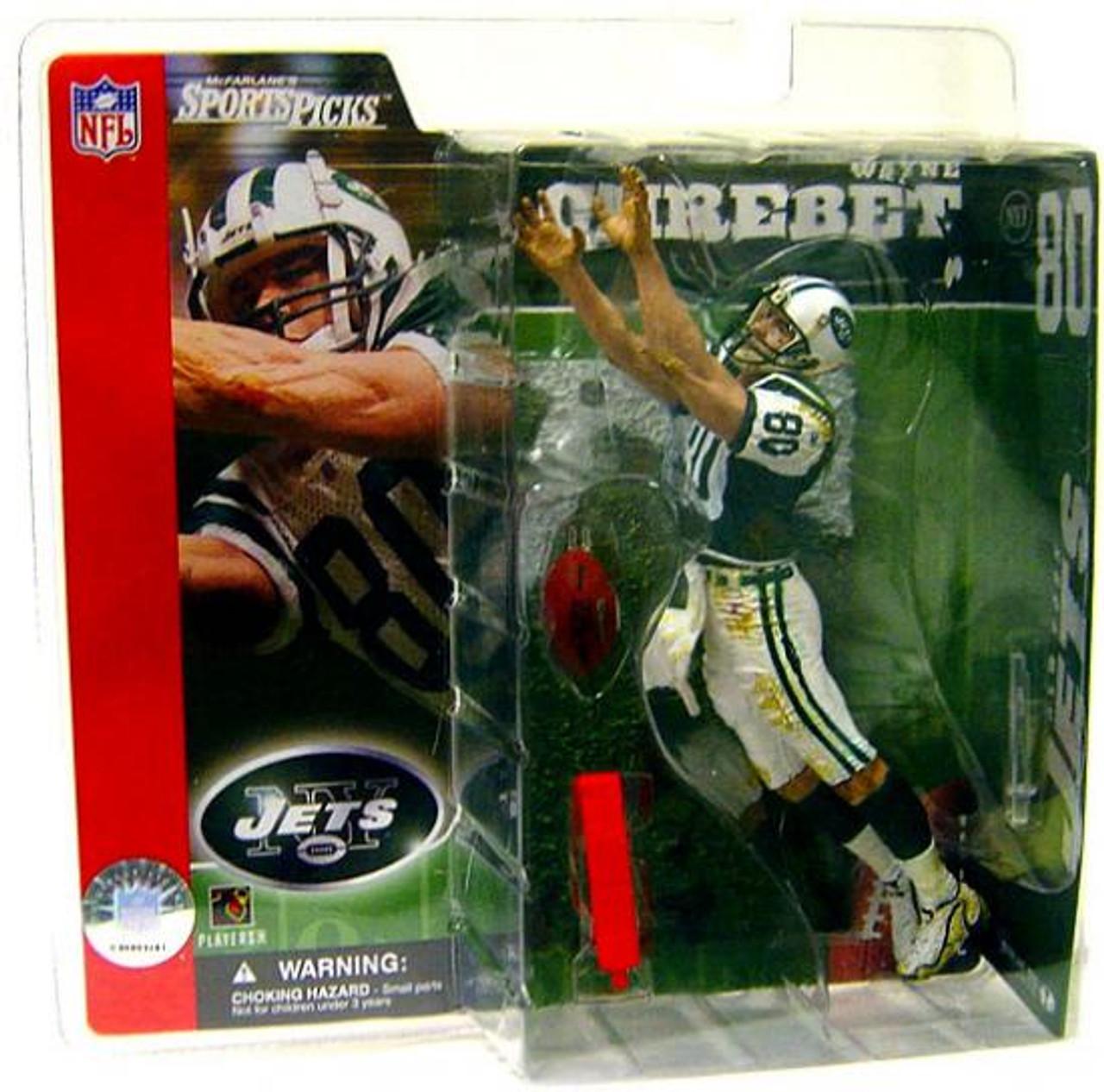 McFarlane Toys NFL New York Jets Sports Picks Series 2 Wayne Chrebet Action Figure [Green Jersey Variant]