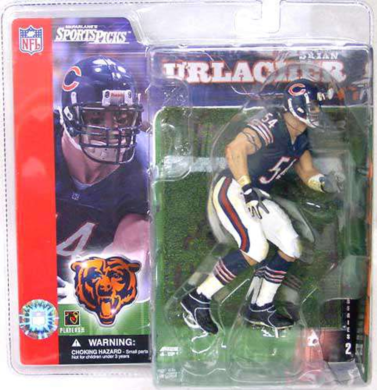 McFarlane Toys NFL Chicago Bears Sports Picks Series 2 Brian Urlacher Action Figure