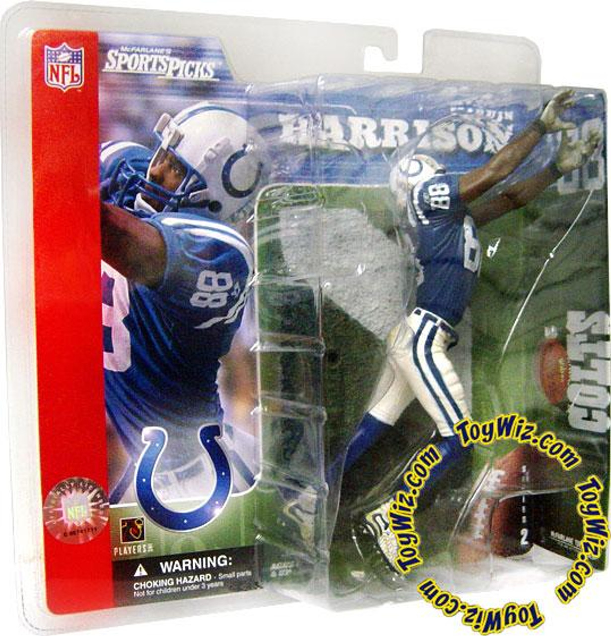 McFarlane Toys NFL Indianapolis Colts Sports Picks Series 2 Marvin Harrison Action Figure [Blue Jersey]