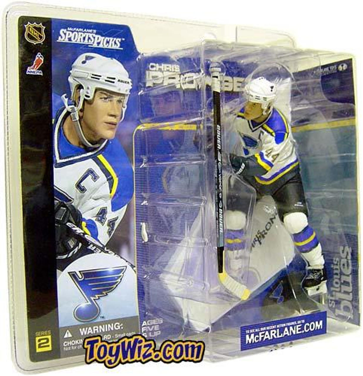 McFarlane Toys NHL St. Louis Blues Sports Picks Series 2 Chris Pronger Action Figure [White Jersey]