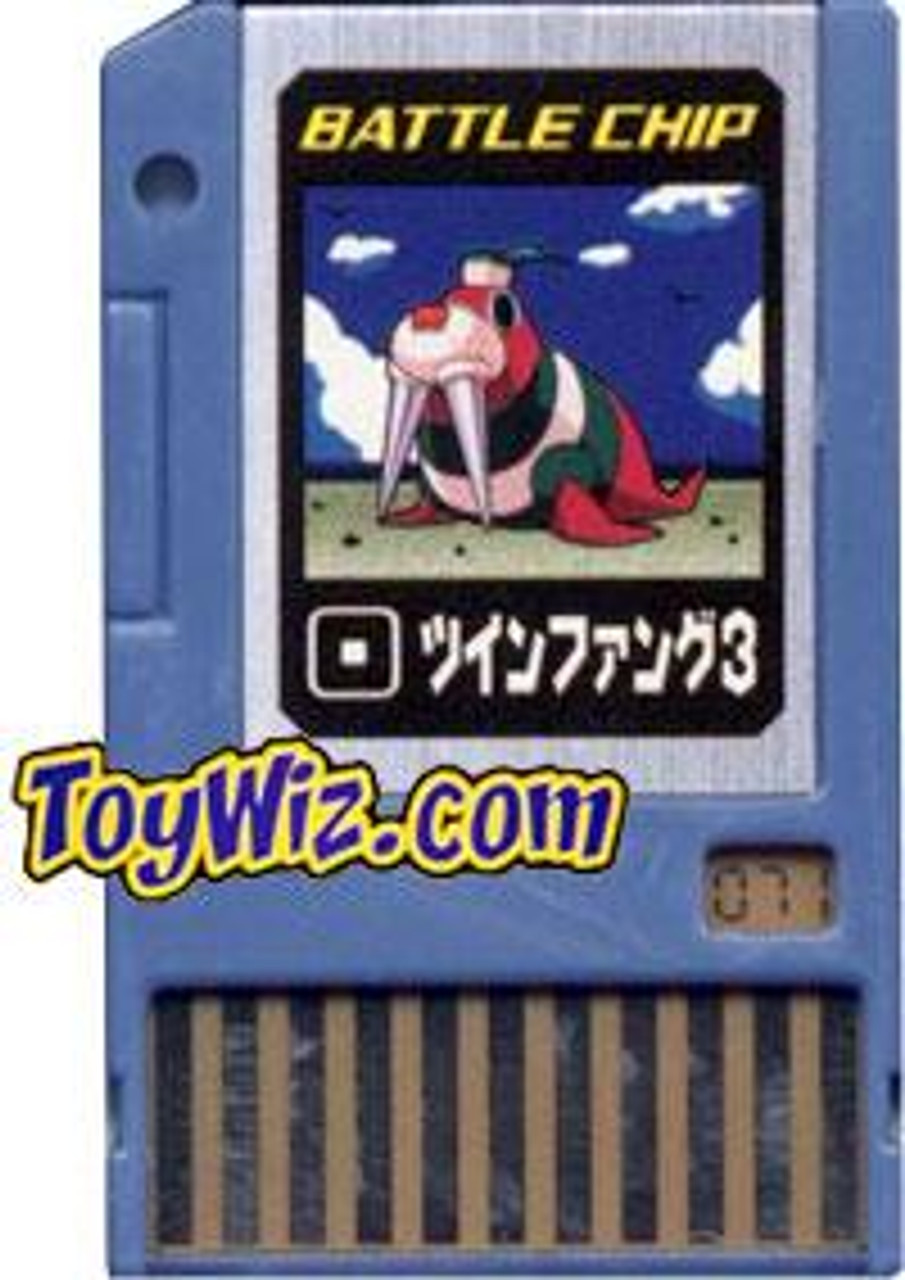 Capcom Mega Man Japanese PET Twin Fang 3 Battle Chip #071