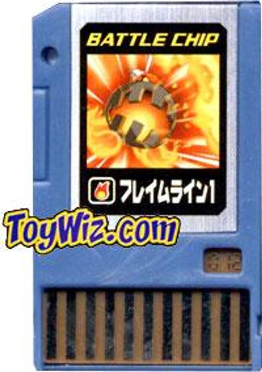 Capcom Mega Man Japanese PET Flame Line 1 Battle Chip #012
