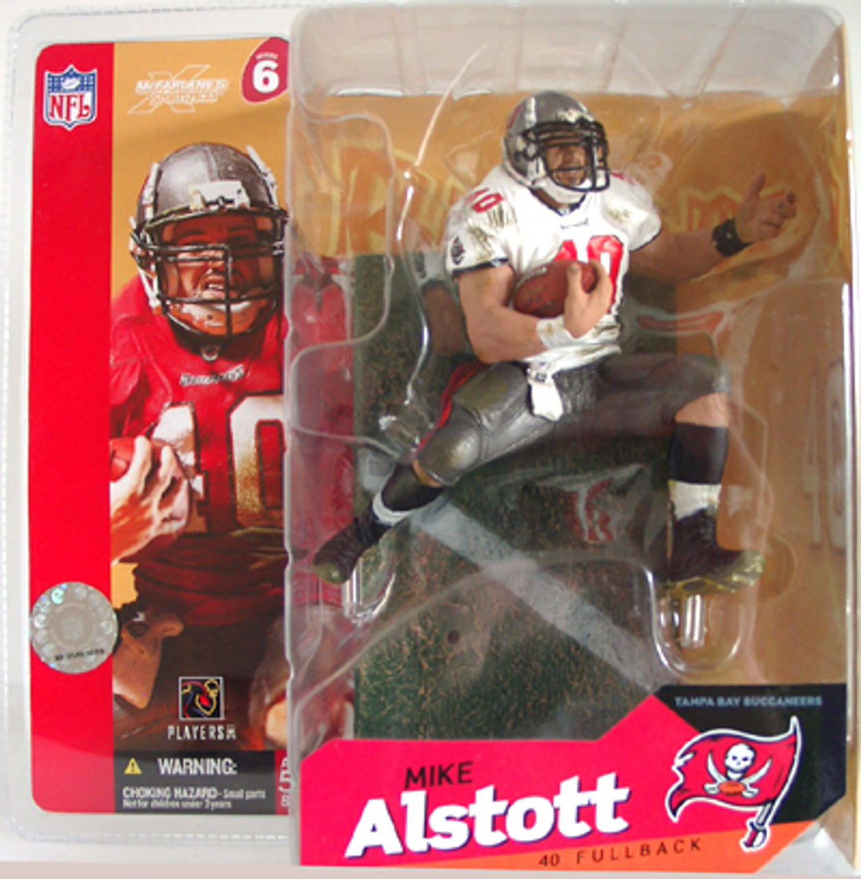 McFarlane Toys NFL Tampa Bay Buccaneers Sports Picks Series 6 Mike Alstott Action Figure [White Jersey Variant]