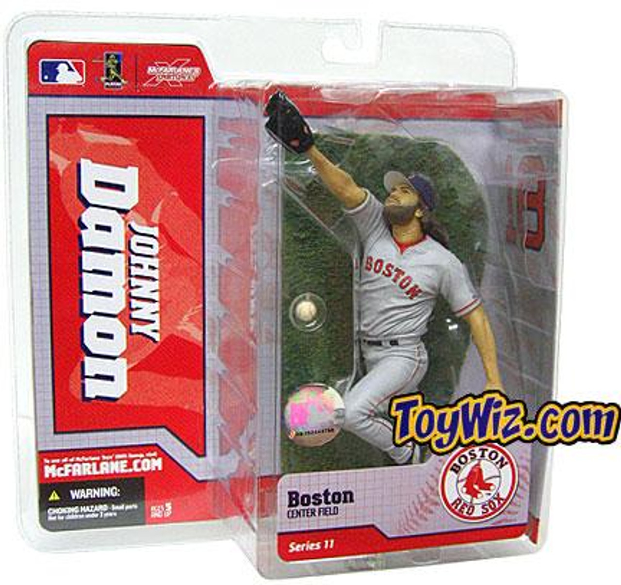McFarlane Toys MLB Boston Red Sox Sports Picks Series 11 Johnny Damon Action Figure [Gray Jersey Variant]
